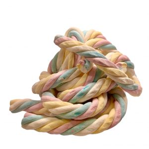 Guimauve Géante Olimpic Twist Torsadé Multicolores