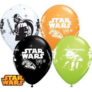 Star Wars Darth Vader et Yoda Assortiment 6 Ballons 11″ Qualatex