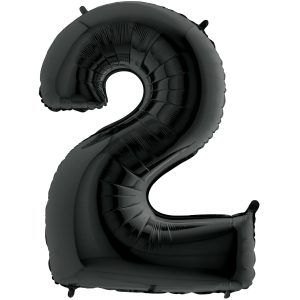 Grand Ballon Noir Black 66cm Chiffre 2